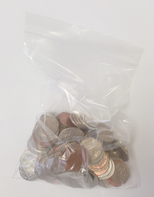 money in grip seal bag