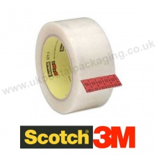 Scotch 3M, 371, Clear Packaging Tape, 48mm x 66m - Box of 36 Rolls