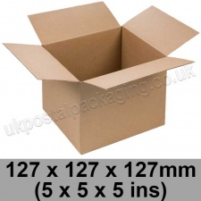 Single Wall Cartons 127 x 127 x 127mm (5 x 5 x 5 ins) - Pack of 25