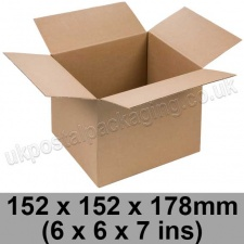 Single Wall Cartons 152 x 152 x 178mm (6 x 6 x 7 ins) - Pack of 25