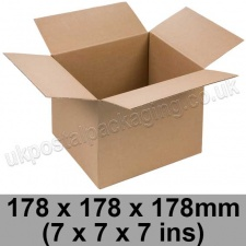 Single Wall Cartons 178 x 178 x 178mm (7 x 7 x 7 ins) - Pack of 25