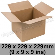 Single Wall Cartons 229 x 229 x 229mm (9 x 9 x 9 ins) - Pack of 25