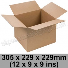 Single Wall Cartons 305 x 229 x 229mm (12 x 9 x 9 ins) - Pack of 25