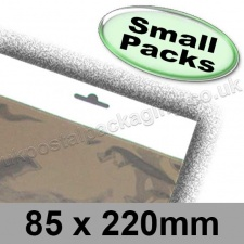 Cello Bag, Size 85 x 220mm, with Euroslot Header - Small Packs