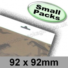 Cello Bag, Size 92 x 92mm, with Euroslot Header - Small Packs