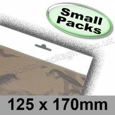 Cello Bag, Size 125 x 170mm, with Euroslot Header - Small Packs