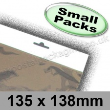 Cello Bag, Size 135 x 138mm, with Euroslot Header - Small Packs