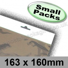 Cello Bag, Size 163 x 160mm, with Euroslot Header - Small Packs