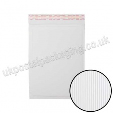 EzePack, White Corrugated Padded Bags, Internal Size 265 x 180mm (D/1)