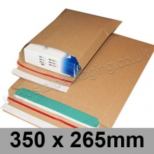 EzePack, Rigid corrugated cardboard envelope, 350 x 265mm - Pack of 20