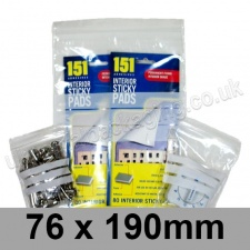 Write-on Grip Seal Bags, 76 x 190mm (approx 3 x 7.5 inch) - per 100 bags