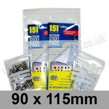 Write-on Grip Seal Bags, 90 x 115mm (approx 3.5 x 4.5 inch) - per 100 bags