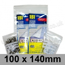 Write-on Grip Seal Bags, 100 x 140mm (approx 4 x 5.5 inch) - per 100 bags