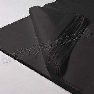 Black MG Tissue Paper, 500 x 750mm, 17gsm - Pack of 480 sheets