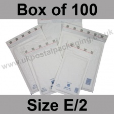 Mail Lite, White Bubble Lined Padded Bags, Size E/2 - Box of 100
