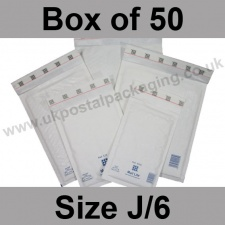 Mail Lite, White Bubble Lined Padded Bags, Size J/6 - Box of 50