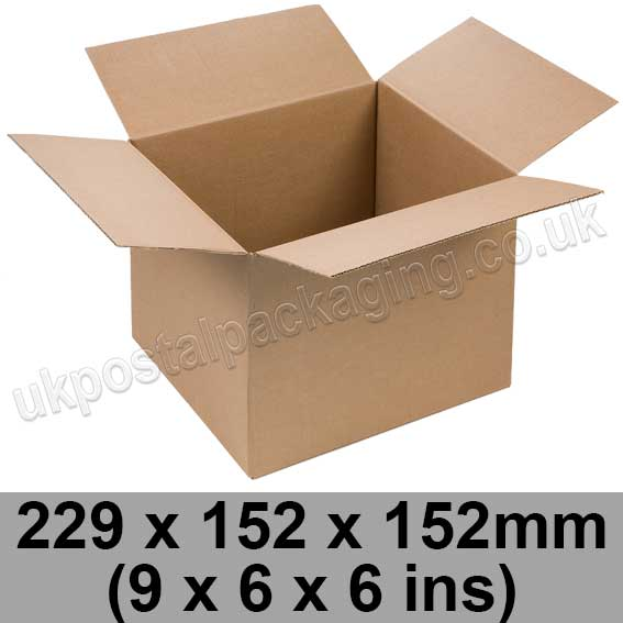 single wall cartons 229 x 152 x 152mm 9 x 6 x 6 ins pack of 25