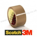 Scotch 3M, 371, Buff Packaging Tape, 48mm x 66m - Box of 36 Rolls