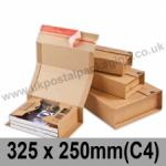 ColomPac Corrugated Wraparound/Book Box, 325 x 250 x 80mm (C4) - Pack of 20