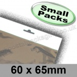 Cello Bag, Size 60 x 65mm, with Euroslot Header - Small Packs