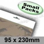 Cello Bag, Size 95 x 230mm, with Euroslot Header - Small Packs