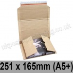 EzePack Corrugated Wraparound/Book Box, 251 x 165 x 60mm (A5+) - Pack of 20