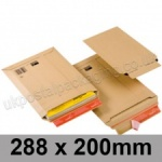 ColomPac, Rigid corrugated cardboard envelope, 288 x 200mm - Pack of 20