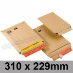 ColomPac, Rigid corrugated cardboard envelope, 310 x 229mm - Pack of 20