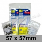 Write-on Grip Seal Bags, 57 x 57mm (approx 2.25 x 2.25 inch) - per 100 bags