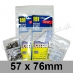 Write-on Grip Seal Bags, 57 x 76mm (approx 2.25 x 3 inch) - per 100 bags