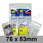 Write-on Grip Seal Bags, 76 x 83mm (approx 3 x 3.25 inch) - per 100 bags