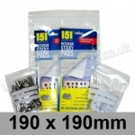 Write-on Grip Seal Bags, 190 x 190mm (approx 7.5 x 7.5 inch) - per 100 bags