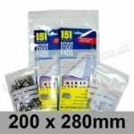 Write-on Grip Seal Bags, 200 x 280mm (approx 8 x 11 inch) - per 100 bags