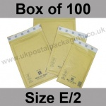 Mail Lite, Gold Bubble Lined Padded Bags, Size E/2 - Box of 100