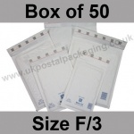 Mail Lite, White Bubble Lined Padded Bags, Size F/3 - Box of 50